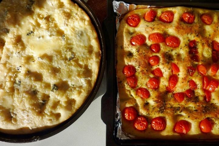Focaccia - four cheese and cherry tomato