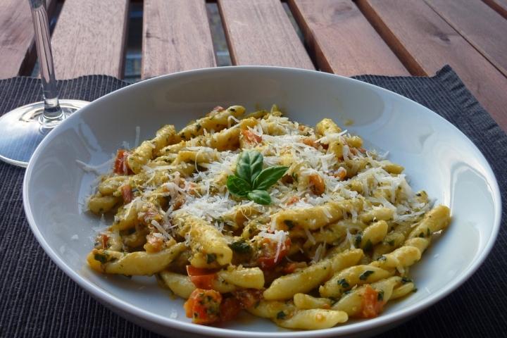 Busiati with Pesto alla Trapanese