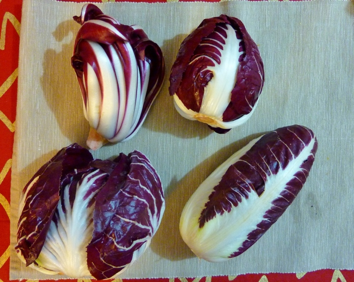 Four types of radicchio found in Italy