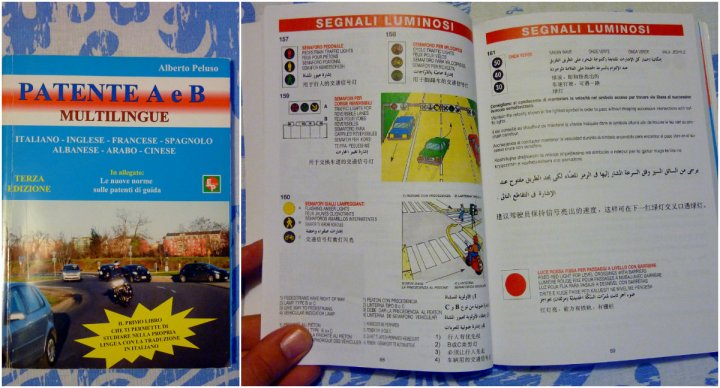 study book Italian driver's license