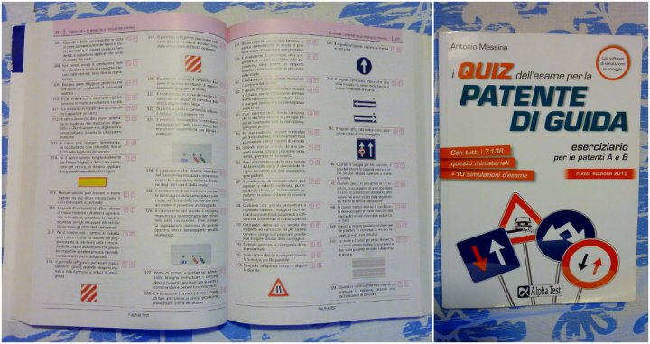 Quiz book for Italian driver's license