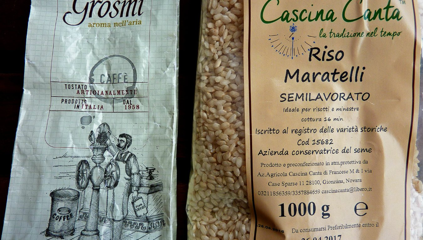 Grosmi caffè and Maratelli rice