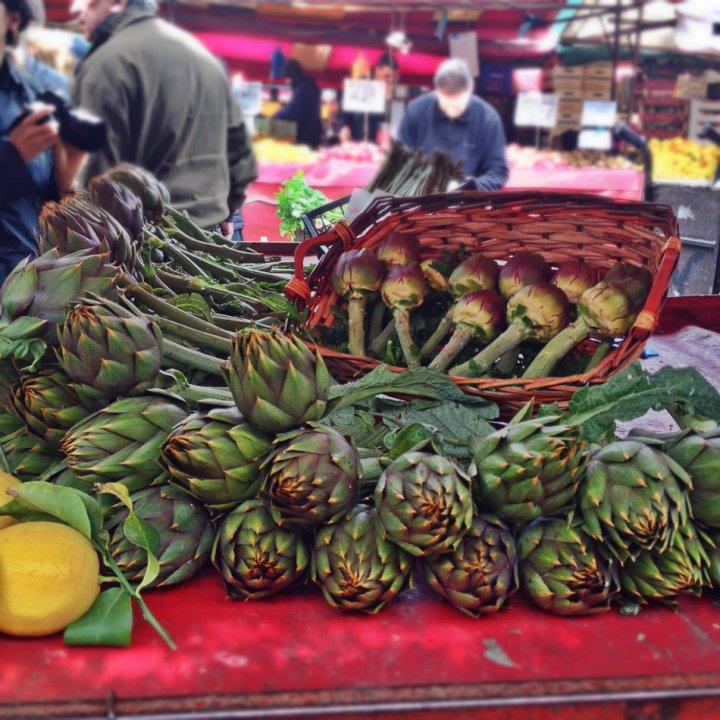 Artichokes at Porta Palazzo market