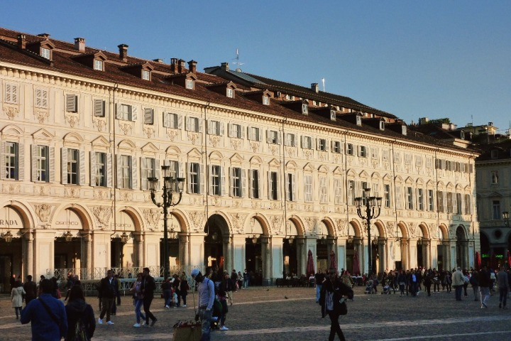 Piazza San Carlo in the evening, Turin